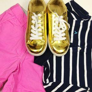 ATMOSPHERE Shiny Gold Metallic Sneakers